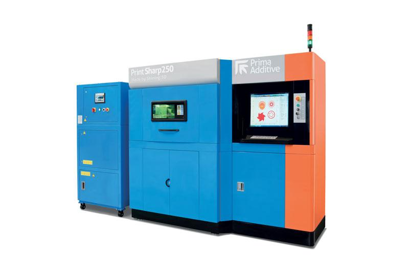 Con un volume di costruzione di 250 x 250 x 300 mm, la Print Sharp 250 assicura un'elevata qualità dei componenti in termini di superficie e di caratteristiche meccaniche.