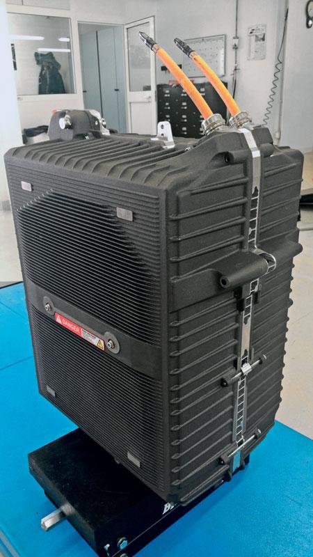 2. Cassa batteria Energica Ego pronta per essere montata.