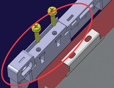 11. Dettaglio della zona del porta-cella interessata maggiormente dall'incremento di calore.