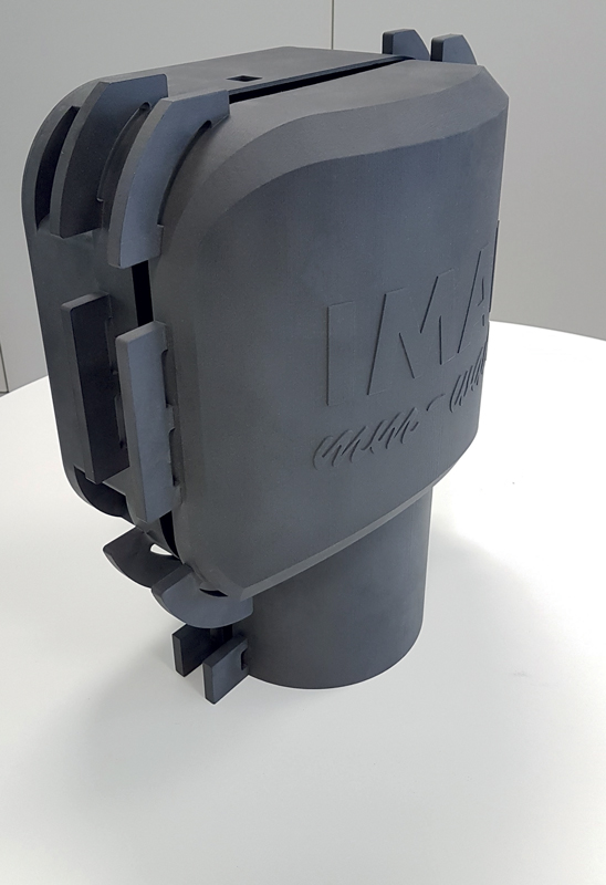 La scatola di contenimento sensore IMAL realizzata da CRP Technology in stampa 3D e materiale composito Windform® XT 2.0.