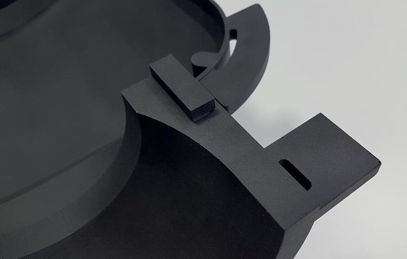 Dettagli della scatola di contenimento sensore IMAL in stampa 3D e Windform® XT 2.0: interno guscio posteriore.