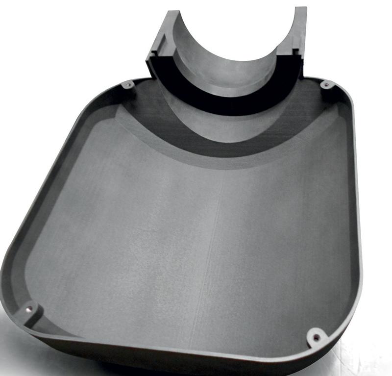 Scatola di contenimento sensore IMAL con lavorazioni meccaniche di precisione a CNC: guscio anteriore (interno).
