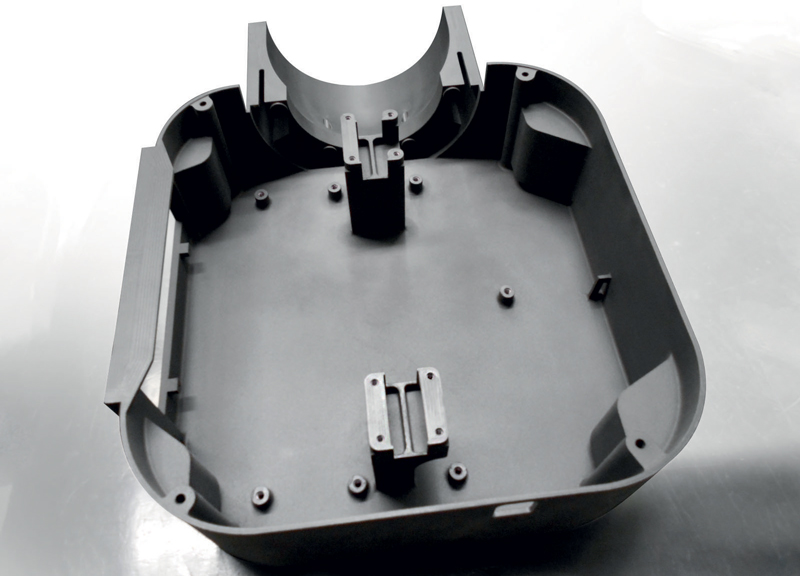 Scatola di contenimento sensore IMAL con lavorazioni meccaniche di precisione a CNC: guscio posteriore (interno).
