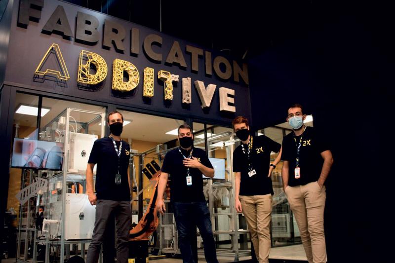 Il laboratorio di produzione additiva (ADDLAB) di Decathlon.