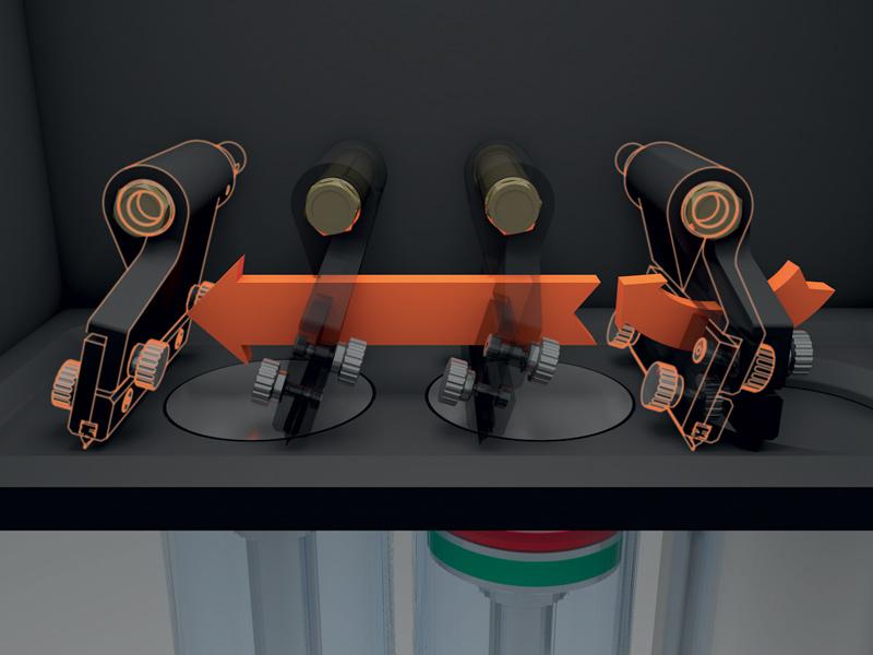 Il sistema di tilting coater brevettato da SISMA ruota verso l'alto prima di tornare alla posizione di raccolta della polvere, evitando in questo modo ogni contatto con il piano di costruzione e il materiale presente nel cilindro di carico.