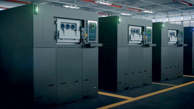 Rendering dello stabilimento dove vengono realizzate le stampanti Sapphire®.