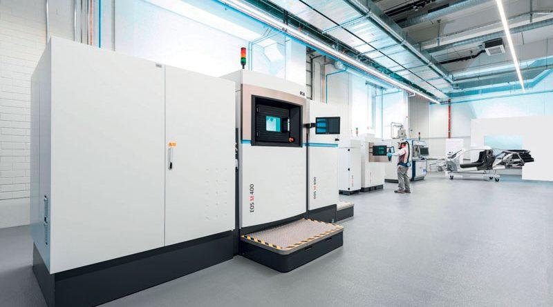 Sistema EOS M 400 per la produzione additiva presso il Metal 3D Printing Center di Audi a Ingolstadt.