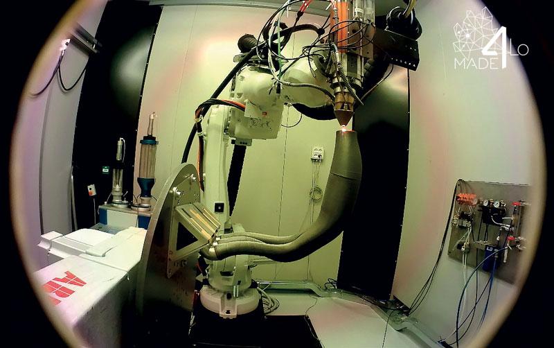 La cella BLM Additube in fase di stampa dello scarico.