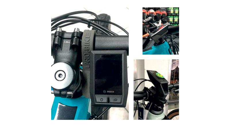 Dettaglio del nuovo porta-computer personalizzato, da stampa 3D in nylon 12 con S2 di Sintratec. In alto a destra: prospettiva. In basso a destra: analogo porta-computer nel vecchio design standardizzato.