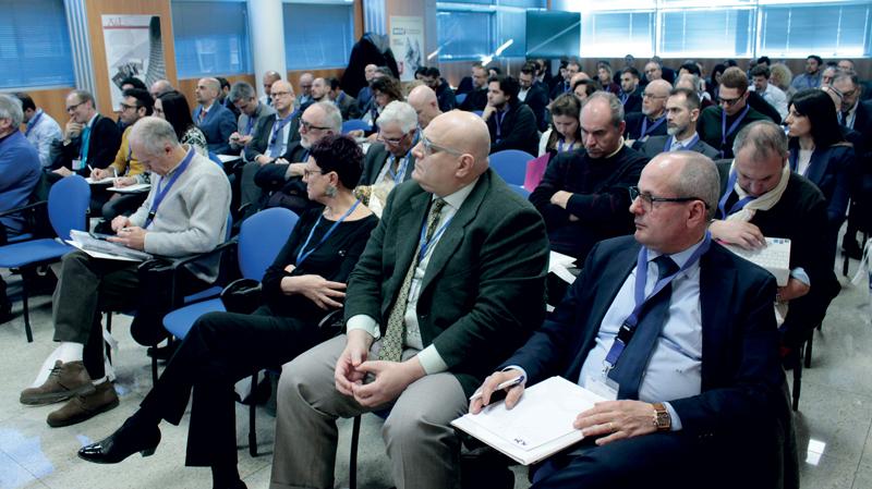 La platea del convegno, seguito da oltre cento partecipanti