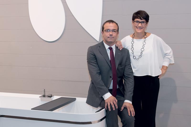 Barbara Novellini, President of Novellini Spa, with her brother Marco Novellini, CEO of Novellini Group