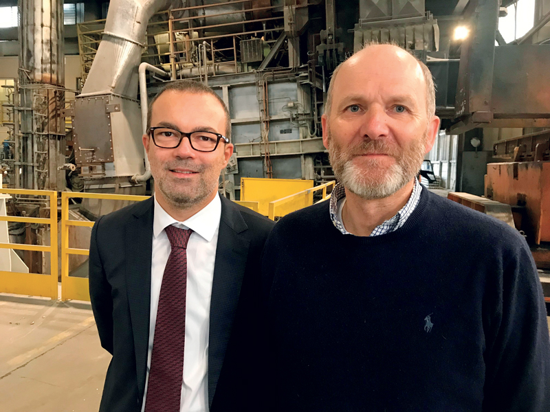 Marco Novellini (left), CEO of Novellini Group and President of novALmec, with Friedhelm Grobler, Managing Director of Metal Exchange International in Zurich