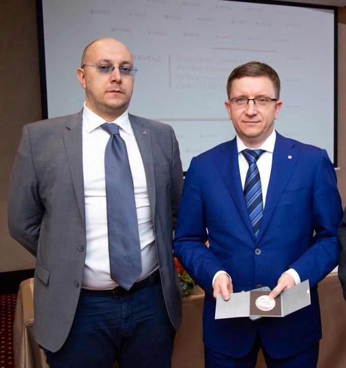 Antonello Colussi di Danieli e Alexey Soldatenkov di Evraz (Siberia)