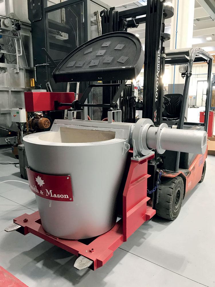 T-Ladle, sistema di trasporto sicuro e di pesatura dell'alluminio liquido