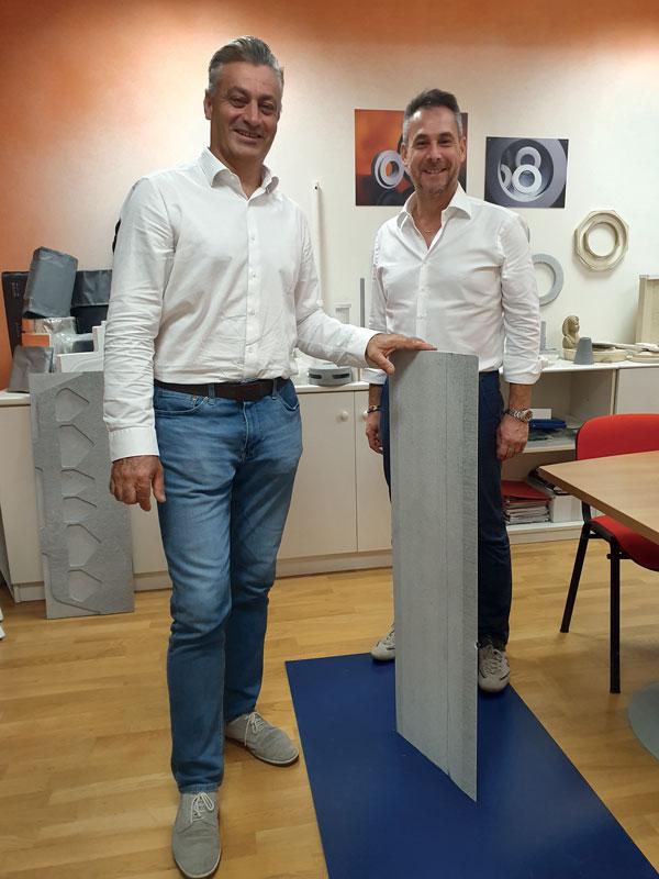 Maurizio Golfetto (left) and Stefano Zamuner, partners and directors of Silca Italia Maurizio Golfetto (a sinistra) e Stefano Zamuner, soci e amministratori di Silca Italia