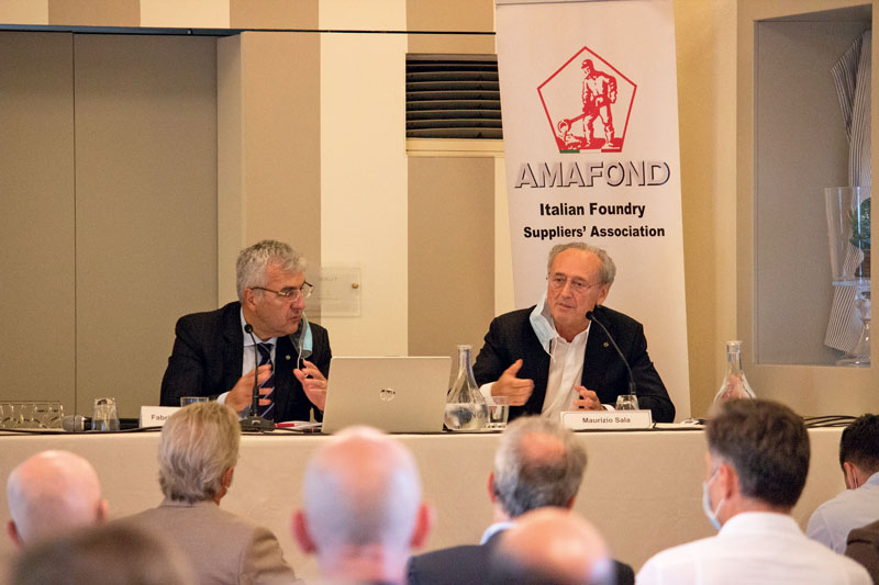 Carmagnini, director of Amafond (left) with outgoing president Maurizio Sala