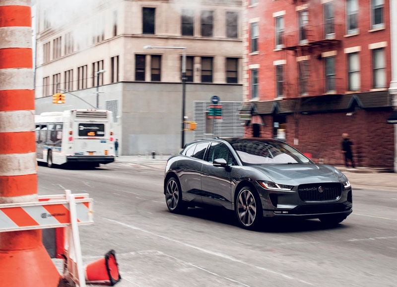 The full-electric Jaguar I-PACE