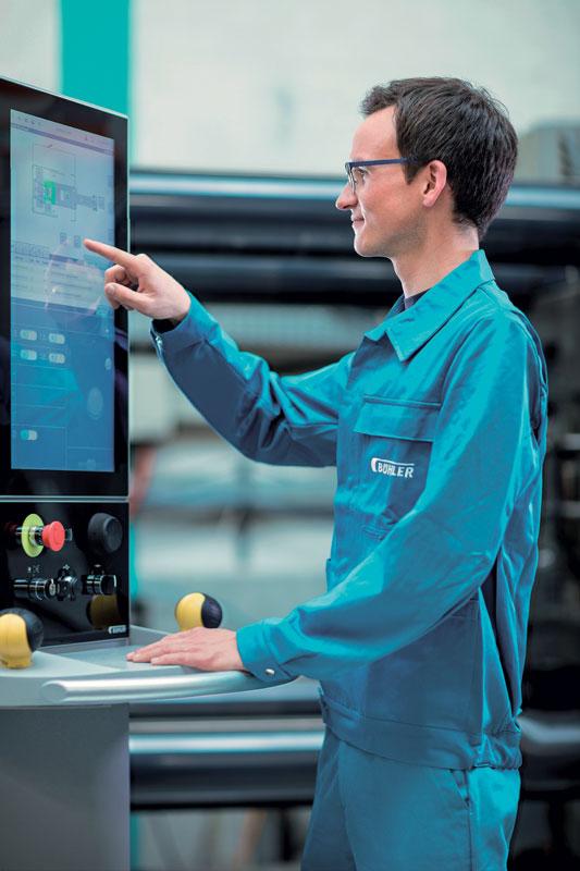Bühler DataView control unit for die-casting machines
