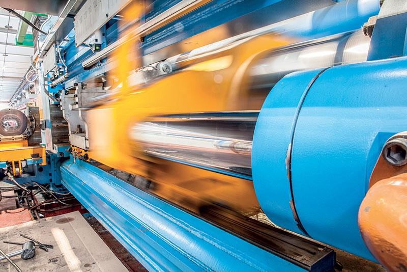 The new automatic profile storage warehouse in Lograto plant