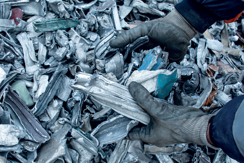 """Ready to melt"" scrap aluminium treated with the new Mega 1100 plant"