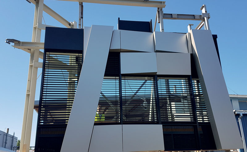 Low-carbon Aluminium facade element made in Hydro Circal® 75R (photo: courtesy Hydro WICONA)
