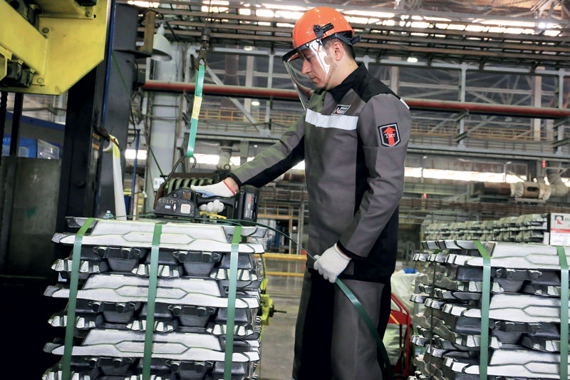 Rusal's Sayanogorsk Aluminium Smelter (Eastern Siberia), Russia's largest producer of aluminium alloys