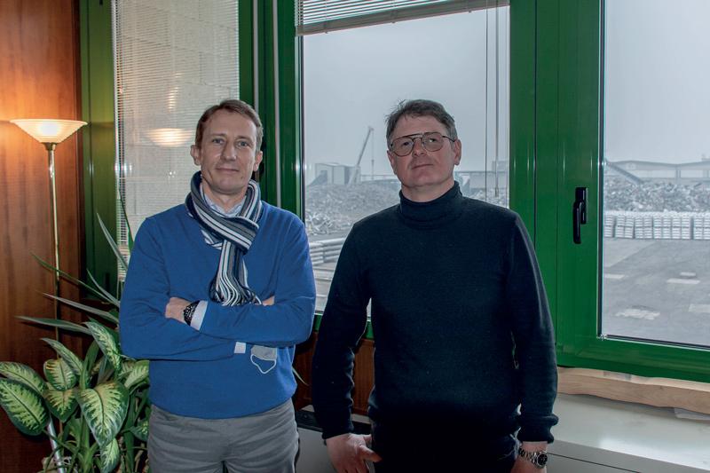 Mauro Cibaldi (a sinistra) con Pietro Giulio Vincoli, rispettivamente Presidente e Amministratore Delegato di Deral