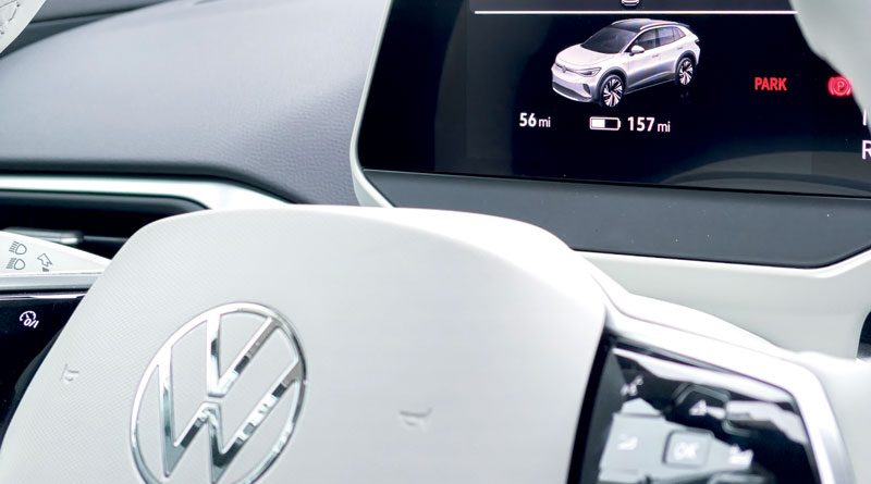 Fully Digital Cockpit Display in the New All-Electric Volkswagen ID.4 (photo by Obi Onyeador on unsplash.com)