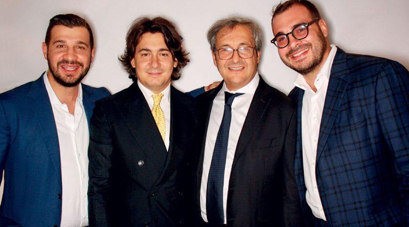 La famiglia Lorusso. Da sinistra, Gianni Lorusso, Domenico Lorusso, Lorenzo Lorusso e Giuseppe Lorusso