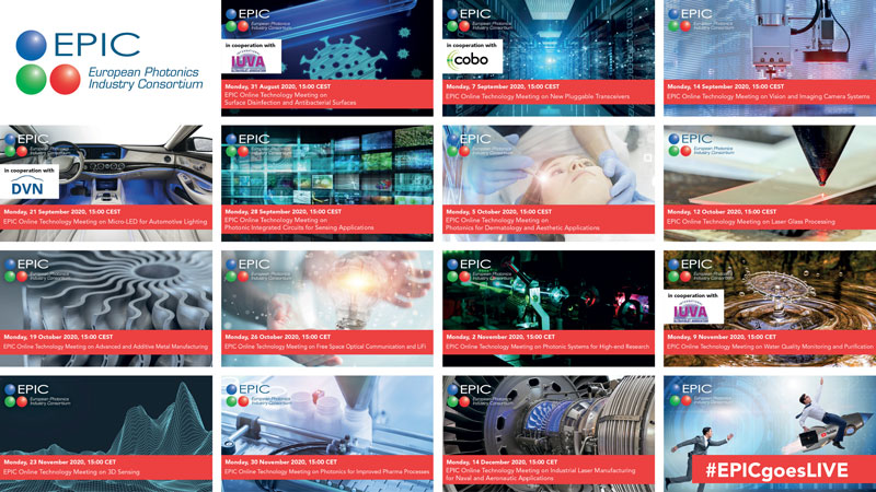 14 EPIC Online Technology Meetings programmati da settembre a dicembre 2020.