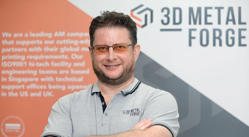 Matthew Waterhouse, CEO di 3D Metalforge.