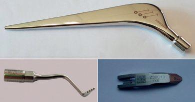 Anche gli strumenti medicali sono marcati con il laser