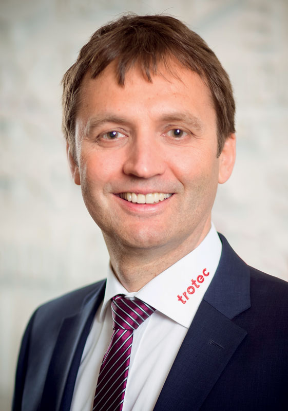 Andreas Penz, amministratore delegato di Trotec Laser GmbH.