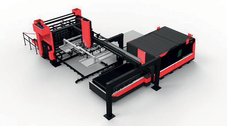 D-SOAR è completo di tavola motorizzata per il carico e scarico lamiera e può essere dotato di un efficiente magazzino di stoccaggio.