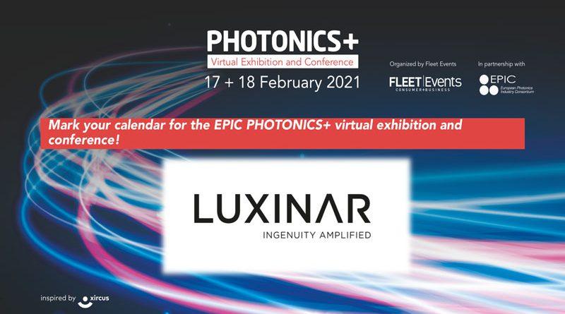 Luxinar alla mostra virtuale PHOTONICS+