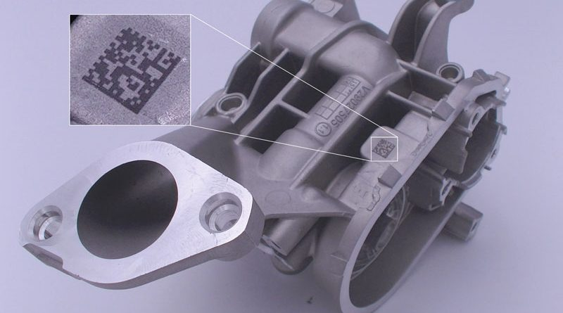 Marcare al laser componenti auto in alluminio