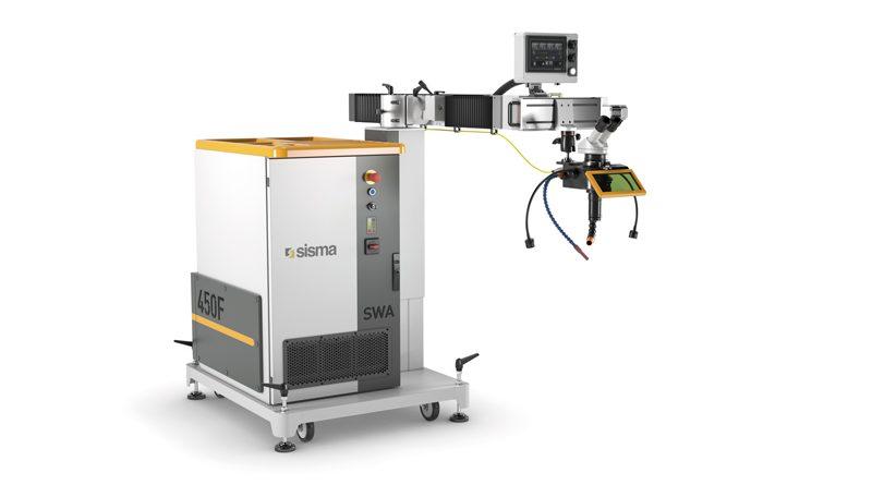 SWA è l'innovativo sistema di saldatura laser e riparazione stampi presentato da Sisma con sorgente in fibra.