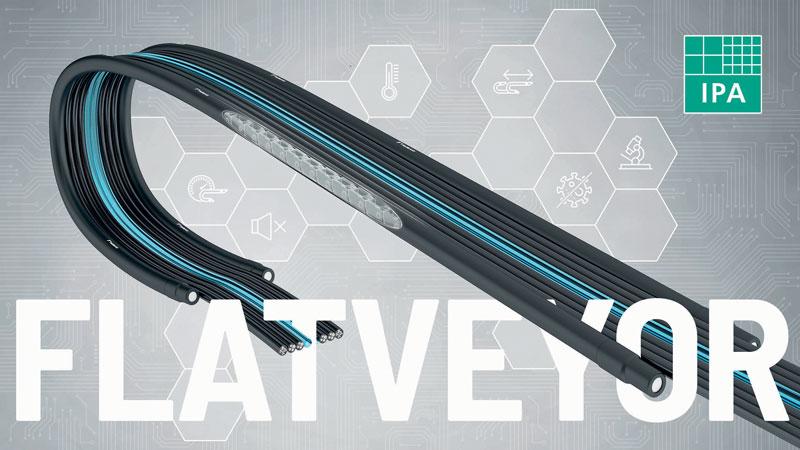 Il sistema Flatveyor è certficato ISO camera bianca classe 2 e contribuisce a ridurre la formazione di polvere e rumore.
