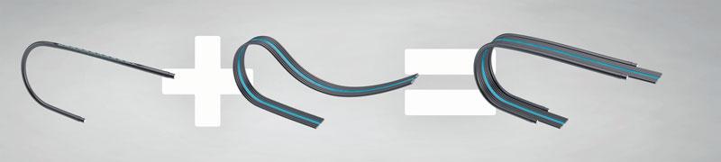 La struttura base del Flatveyor sono gli elementi di support interni, che assicurano la guida affidabile di cavi e tubi.