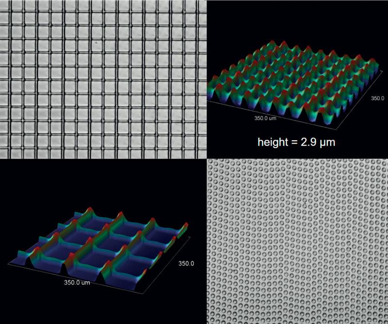 Esempio di funzionalizzazione della superficie di un polimero con Femtum Nano 2800. (©Femtum)