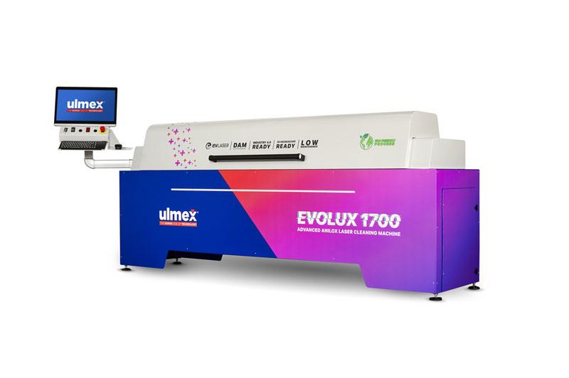 Evolux è l'innovativo concept per la pulizia laser degli Anilox, studiato per integrarsi nei processi di stampa.