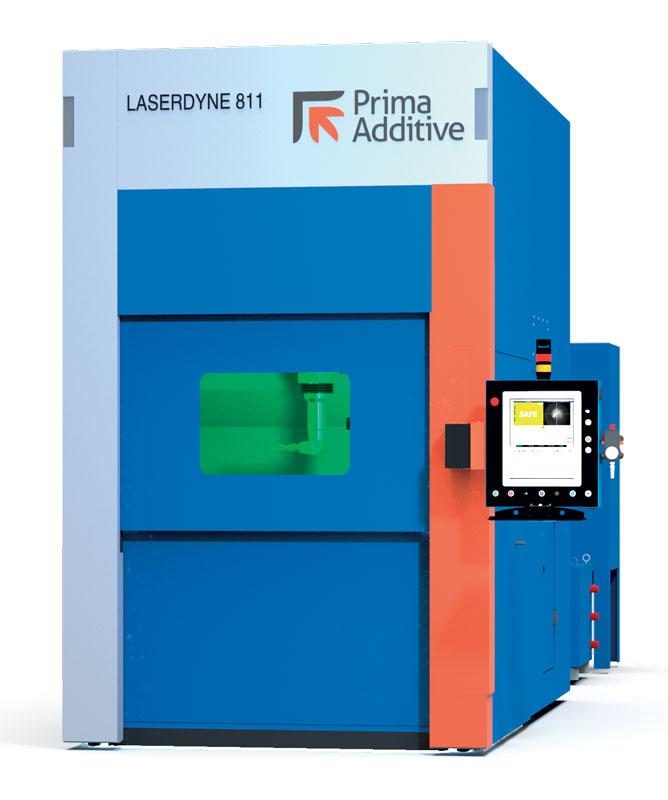 La macchina per produzione additiva DED Laserdyne 811 di Prima Additive.