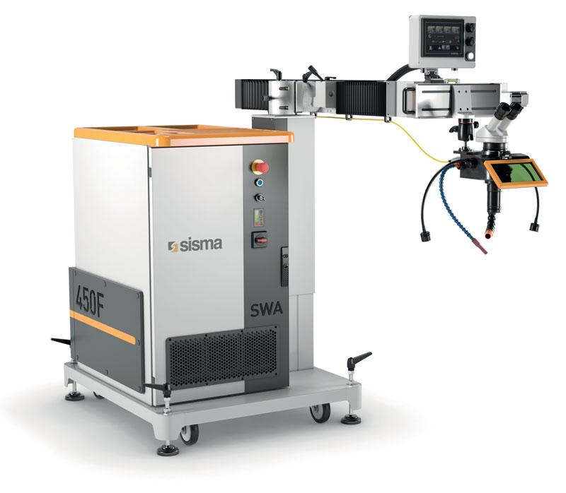 Il nuovo sistema di saldatura laser e riparazione stampi con sorgente in fibra SWA 450F.