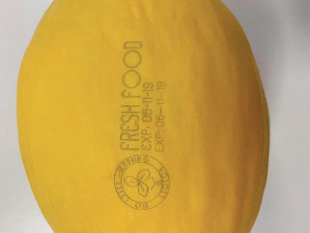 (sotto) Il natural branding rappresenta un'alternativa efficace, ecologica, veloce, flessibile, versatile e sicura per l'etichettatura degli alimenti.