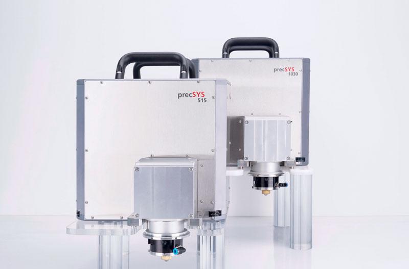 Il sistema di microelaborazione a cinque assi precSYS di SCANLAB è disponibile in due modelli.