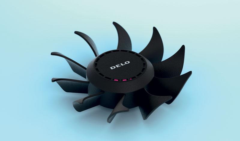 Irradiata dalle lampade UV DELOLUX di DELO, la pasta per equilibratura polimerizza nel giro di pochi secondi.
