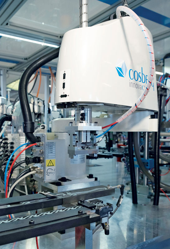 The plant must allow for fast production changeover times and to manage 21 product variants.
