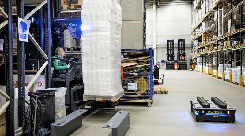 I robot mobili MiR1000 di Mobile Industrial Robots sono stati scelti per il magazzino di ICM a Odense.