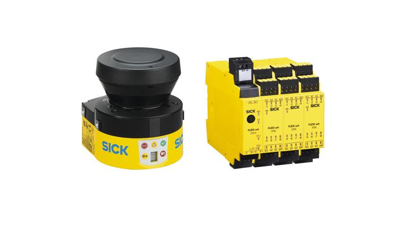 eBot Speed di Sick è costituito da un laser scanner di sicurezza e da una centralina configurabile.