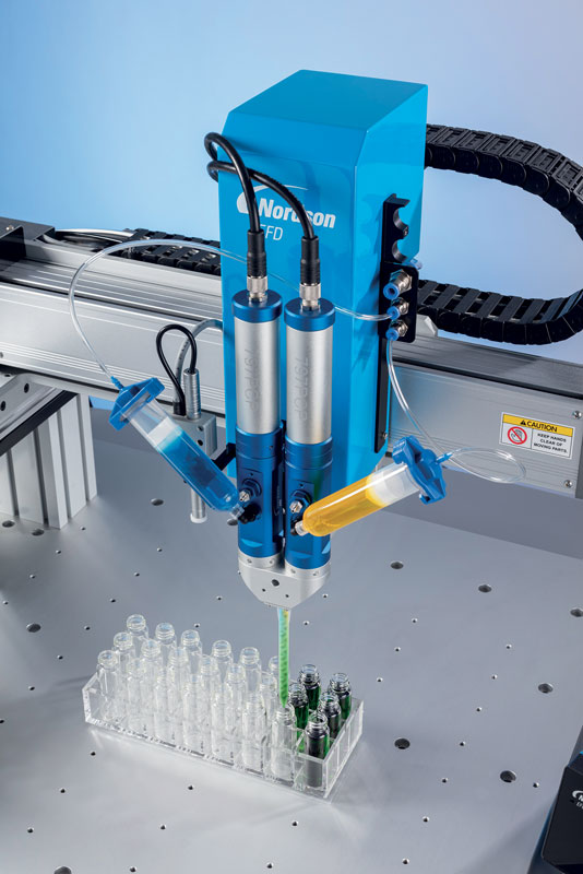 As it rotates, the pump allows continuous volumetric dispensing that is unaffected by external factors.